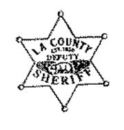LA COUNTY DEPUTY SHERIFF EST. 1850 Trademark of County of