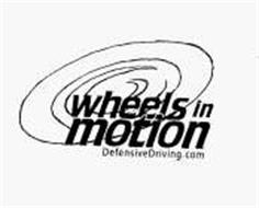 WHEELS IN MOTION DEFENSIVEDRIVING.COM Trademark of
