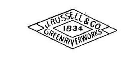 J. RUSSELL & CO. 1834 GREEN RIVER WORKS Trademark of