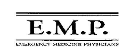 EMP-EMERGENCY MEDICINE PHYSICIANS Trademark of EMP