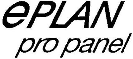 EPLAN PRO PANEL Trademark of EPLAN SOFTWARE & SERVICE GMBH