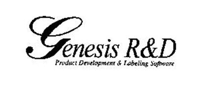 GENESIS R&D PRODUCT DEVELOPMENT & LABELING SOFTWARE