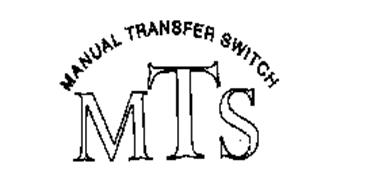 MANUAL TRANSFER SWITCH MTS Trademark of Eylander Electric