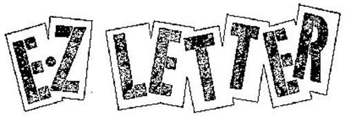 E.Z LETTER Trademark of E-Z Letter Quik Stik Company