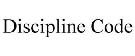 DISCIPLINE CODE Trademark of Groemping, LLC. Serial Number