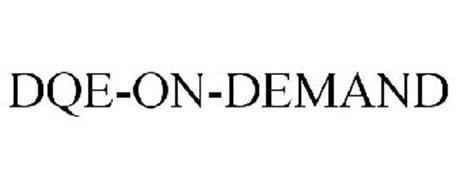 DQE-ON-DEMAND Trademark of Haz/Mat DQE, Inc.. Serial