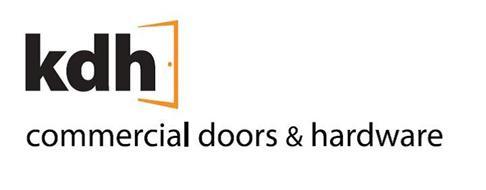 KDH COMMERCIAL DOORS & HARDWARE Trademark of KDH DOORS