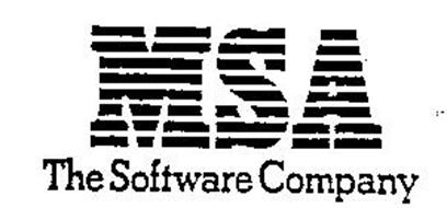 MSA THE SOFTWARE COMPANY Trademark of MANAGEMENT SCIENCE