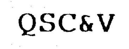 QSC&V Trademark of MCDONALD'S CORPORATION. Serial Number