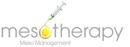 MESOTHERAPY MESO MANAGEMENT Trademark of Meso Management