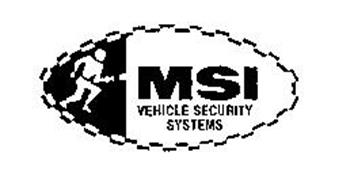 MSI VEHICLE SECURITY SYSTEMS Trademark of MSI ELECTRONICS