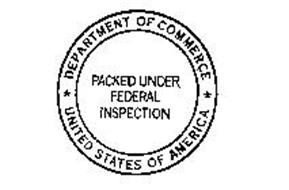PACKED UNDER FEDERAL INSPECTION DEPARTMENT OF COMMERCE