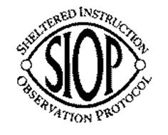 SIOP SHELTERED INSTRUCTION OBSERVATION PROTOCOL Trademark