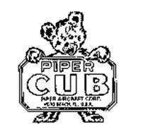 PIPER CUB PIPER AIRCRAFT CORP. VERO BEACH, FL. U.S.A