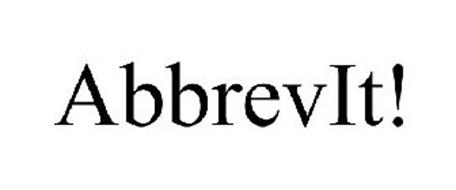ABBREVIT! Trademark of PITNEY BOWES SOFTWARE INC.. Serial
