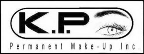 K.P. PERMANENT MAKE-UP INC. Trademark of Plante, Theresa