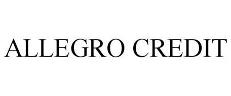 ALLEGRO CREDIT Trademark of Sherman, Clay & Co.. Serial