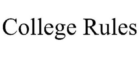 COLLEGE RULES Trademark of SONESTA LIMITED S.R.O. Serial