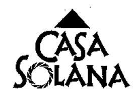 CASA SOLANA Trademark of Sysco Corporation Serial Number
