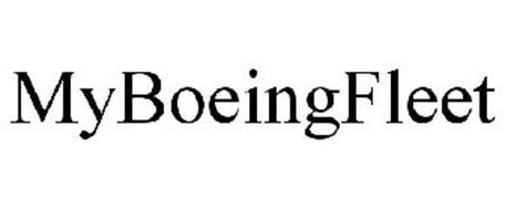 MYBOEINGFLEET Trademark of THE BOEING COMPANY Serial