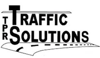 TPR TRAFFIC SOLUTIONS Trademark of TRENCH PLATE RENTAL CO