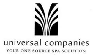 UNIVERSAL COMPANIES YOUR ONE SOURCE SPA SOLUTION Trademark