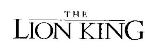 THE LION KING Trademark of WALT DISNEY COMPANY, THE