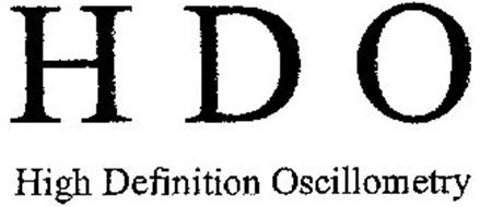 HDO HIGH DEFINITION OSCILLOMETRY Trademark of Wolfgang