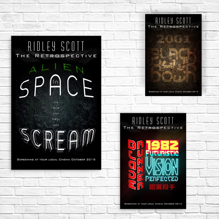 Image editing and digital design for Ridley Scott poster display