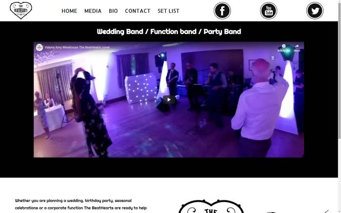 Web design for The Beathearts
