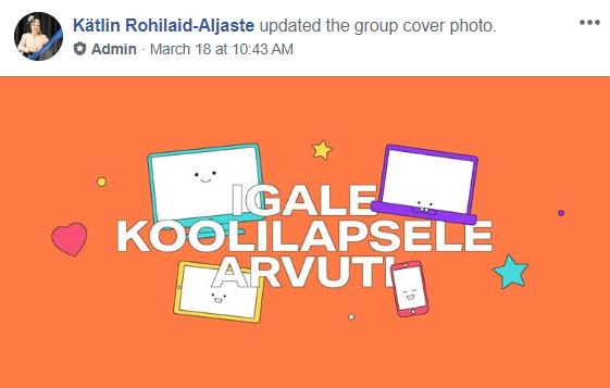 FB grupp sai endale värvilise päisepildi