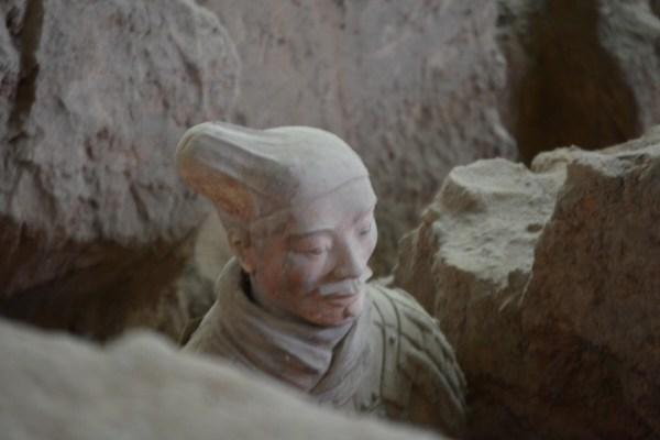 excavation of Chinese terracotta warriors
