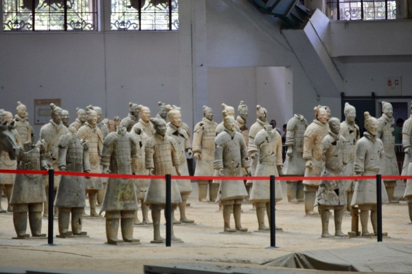 partially restored statues in Shaanxi China