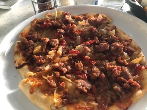 Anna Maria Island - The Sandbar Restaurant - Wild Boar Sausage - Pizza - food blog