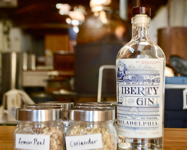 Liberty Gin - W P Palmer Distilling Co - gin - genever - craft distilling - craft cocktails - lemon peel - coriander - making gin - Philadelphia - Manayunk