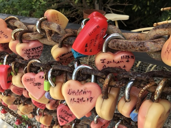 Blond Giraffe - Blond Giraffe Key Lime Pie Factory - Secret Garden - Love Locks - The Florida Keys - Mark and Chucks Adventures - Travel Bloggers