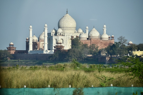 Agra – Baby Taj - Tomb of I'timād-ud-Daulah – India travel - Gate 1 Travel - Mark and Chuck's Adventures - view of Taj Mahal across the river