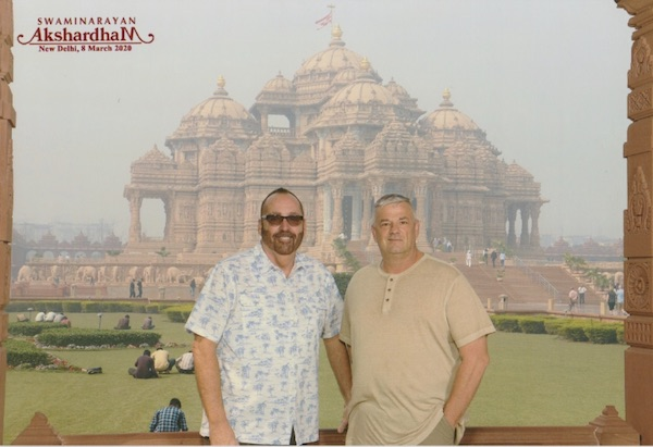 Swaminarayan Akshardham - The Mandir - Marble carvings- pink sandstone carvings -New Delhi - Hindu temple - India - Mark and Chuck's Adventures