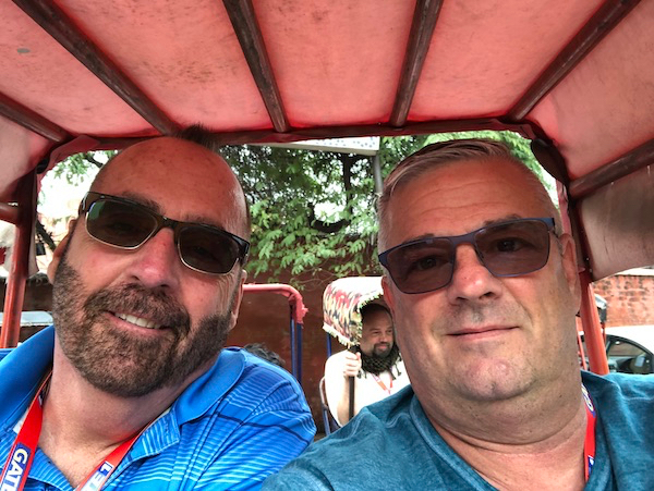 Mark and Chuck's Adventures - bicycle rickshaw - bicycle rickshaw in Chandni Chowk - Old Delhi - Chandni Chowk - streets of Delhi - India travel - India vacation