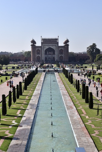 Mark and Chuck's Adventures - India trip - gardens from the steps of the Taj Mahal - Taj Mahal