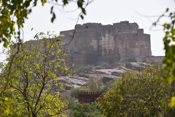 view of the Mehrangarh Fort from Jaswant Thada