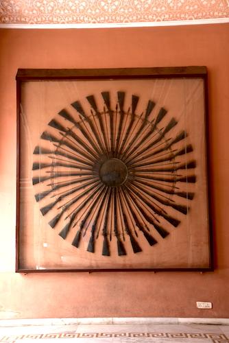 Rifles - rifles as artwork - display of rifles - Jaipur - Jaipur City Palace