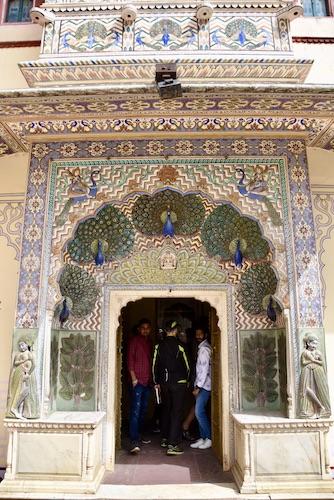 peacock doorway - Jaipur City Palace - peacock