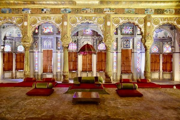 Phool Mahal - Flower Palace - -Mehrangarh Fort – Jodhpur – Rajasthan – India – India travel blog – traveling in India