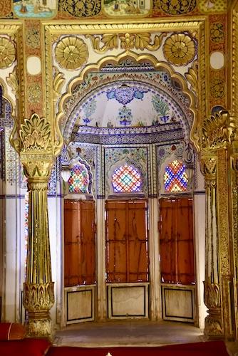 gold - gold filigree - Phool Mahal - Flower Palace - -Mehrangarh Fort – Jodhpur – Rajasthan – India – India travel blog – traveling in India
