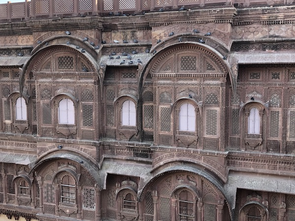 carved screens of the Mehrangarh Fort in Jodhpur India