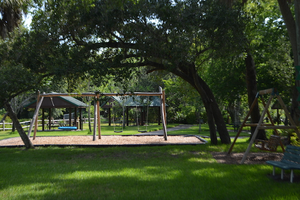 empty playground at Boyd Hill Nature Preserve in St Petersburg Florida