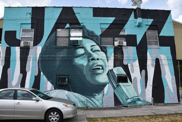 mural of Ella Fitzgerald by Zulu Artist in The Deuces in south St Pete