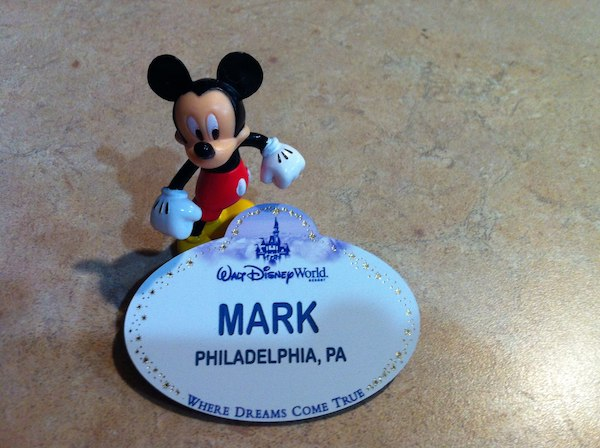 Walt Disney World Cast member name tag