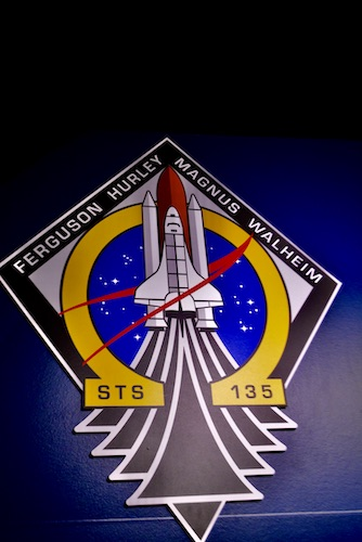 Space shuttle medallion for the STS 135 mission